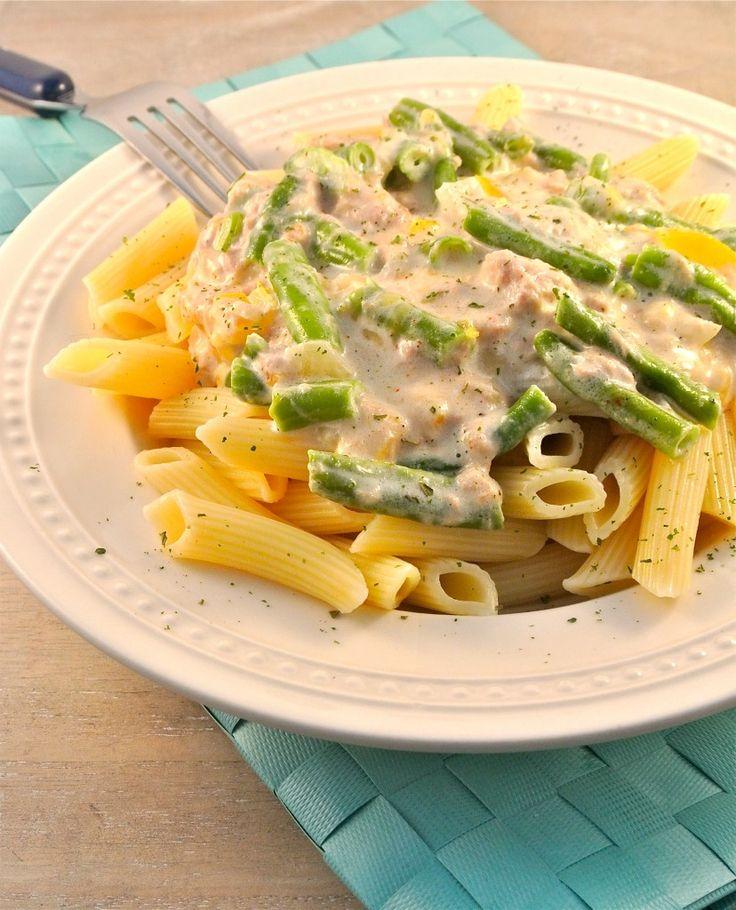 Pasta met tonijn-roomsaus - Lekker en Simpel