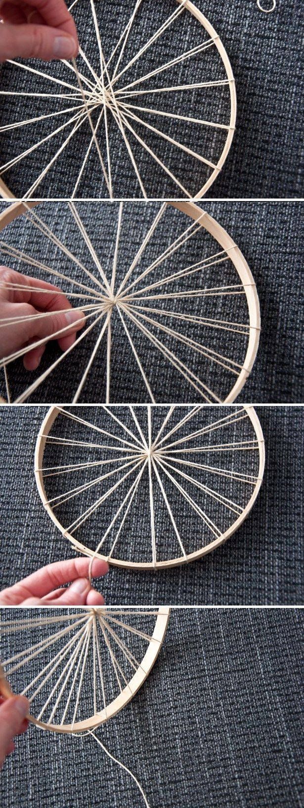 How to Use an Embroidery Hoop as a Loom   The Weaving Loom