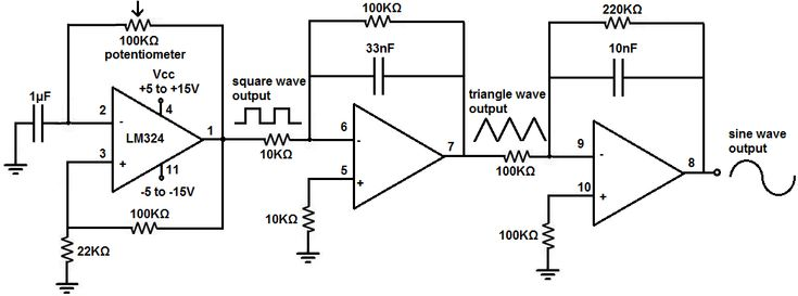 signal generator circuit electronic circuits 8085 projects