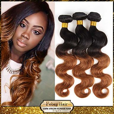 7A Grade dark root ombre two tone 1b/30 body wave hair weaving weft extension women ombre hair weave – USD $ 69.68
