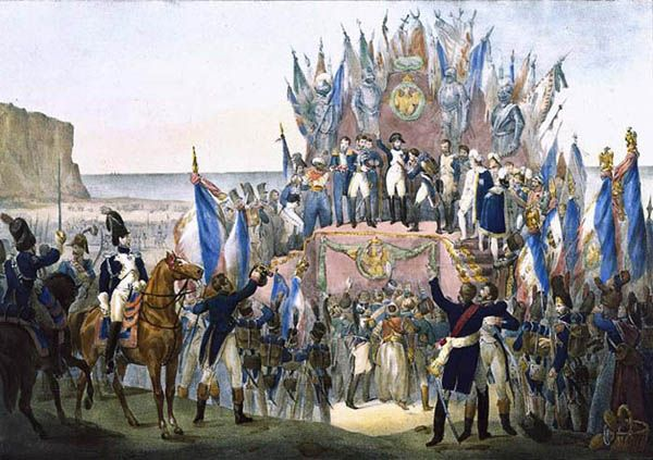 Napoleon's invasion of England Part of the War of the Third Coalition Napoleon distributing the first Imperial Légion d'honneur at the Boulogne camps, on August 16, 1804