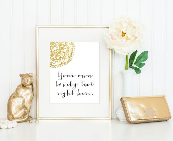 Custom Quote Prints Stunning 42 Best Custom Prints Images On Pinterest  Quote Prints Gold