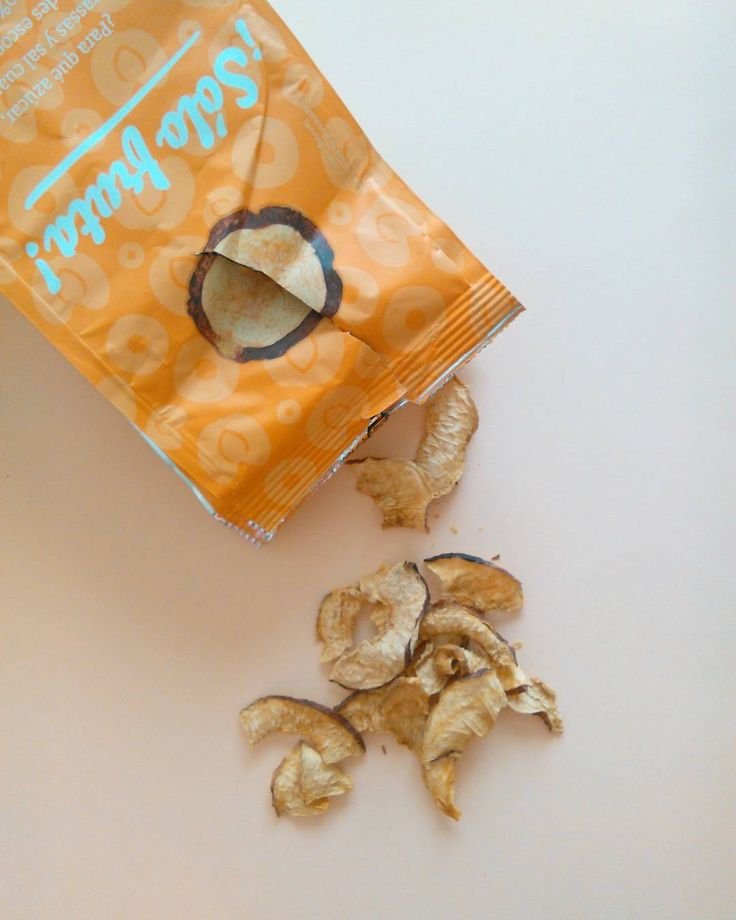 Dried peach chips. No added sugar.