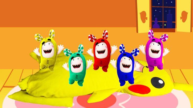 5 Little Colorful Oddbods ZEE Jumping on the Bed | Five Little Monkeys J...