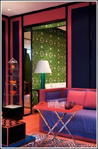 David Hicks France - all the walls - both rooms