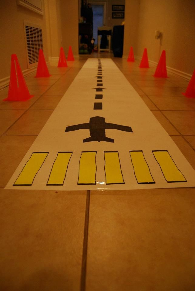 Homemade runway for the hallway