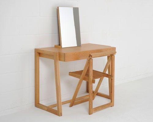 Contemporary Dressing Table or desk in Oak | Futon Company