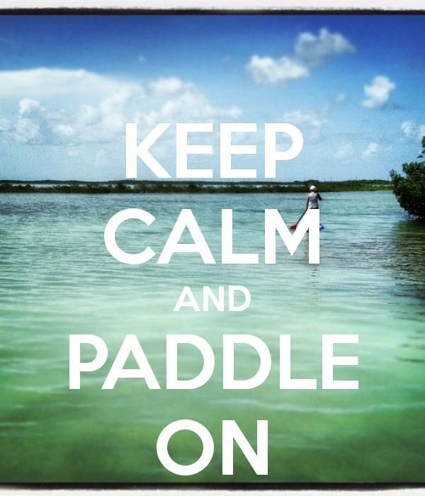 SUP - Keep calm and paddle on!  Klave's Marina has been serving the boating community on Portage Lake in Pinckney, MI for more than 50 Years! Call (734) 426-4532 or visit our website www.klavesmarina.com for more information!