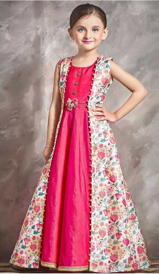 fa538c7f Buy indo western style 10 years girl gown | 366143496 in 2019 | Kids ...