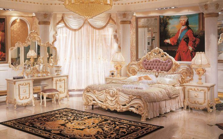 輸入家具のローマンディール HC-8003BDロココ調高級ベッド