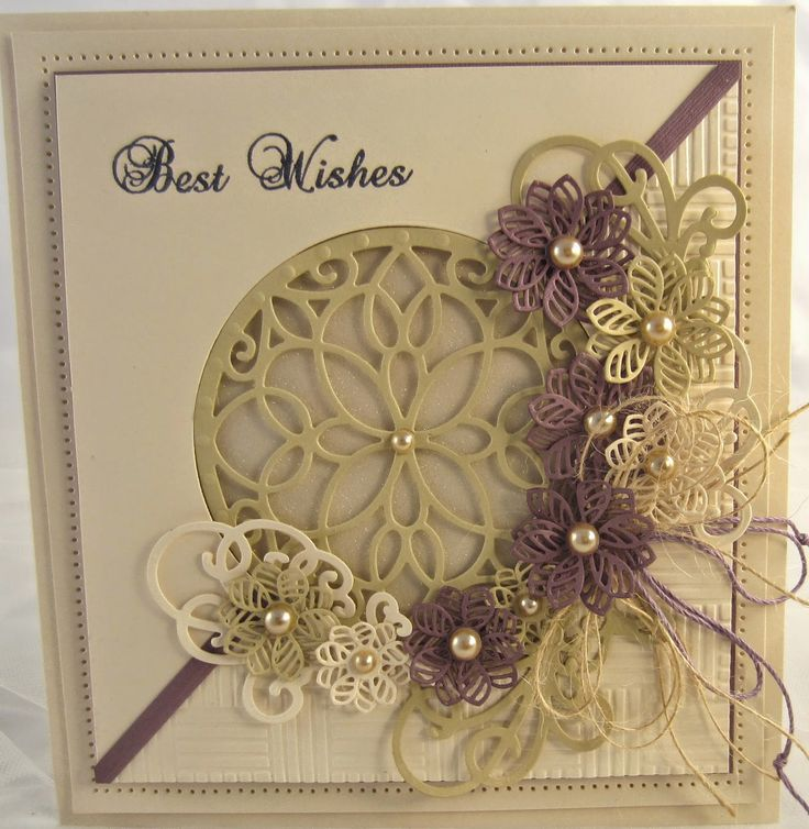 PartiCraft 7x8 1/2 Best Wishes, Italian Collection Calabria, Faux Quilled Blooms
