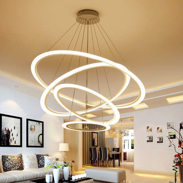 Minimalisme Led Moderne Lustre Eclairage Lamparas Colgantes Lampe