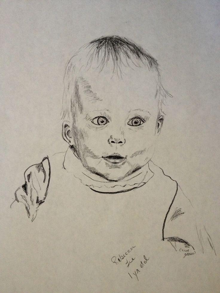 Rebecca 1yr. Old by Carol Jones