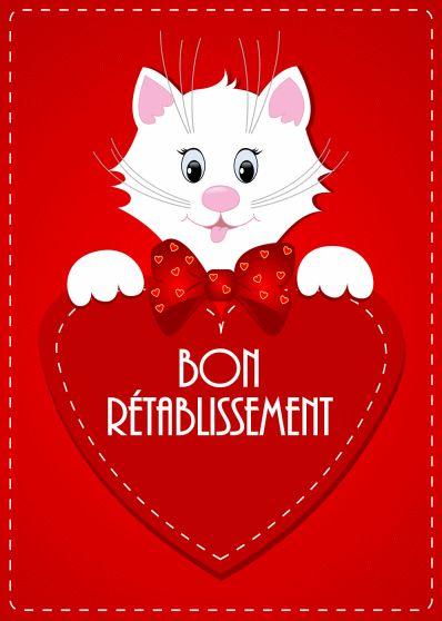 Bon Rétablissement #bonretablissement chat coeur convalescence                                                                                                                                                                                 Plus