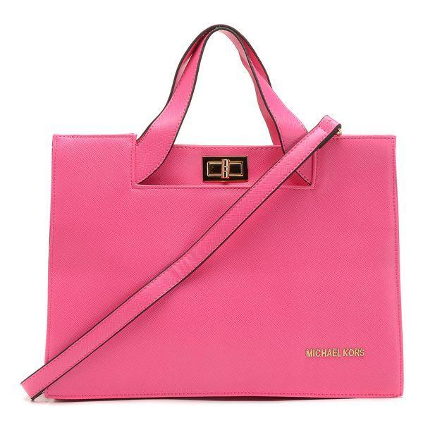 Authentic Michael Kors Handbags Toggle Lock Rose SJ206154
