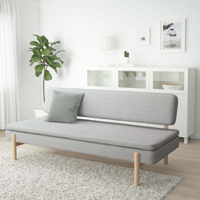 Ypperlig 3 Seat Sleeper Sofa Orrsta Light Gray Ikea In 2020 Minimalist Sofa 3 Seat Sofa Bed Sofa Bed