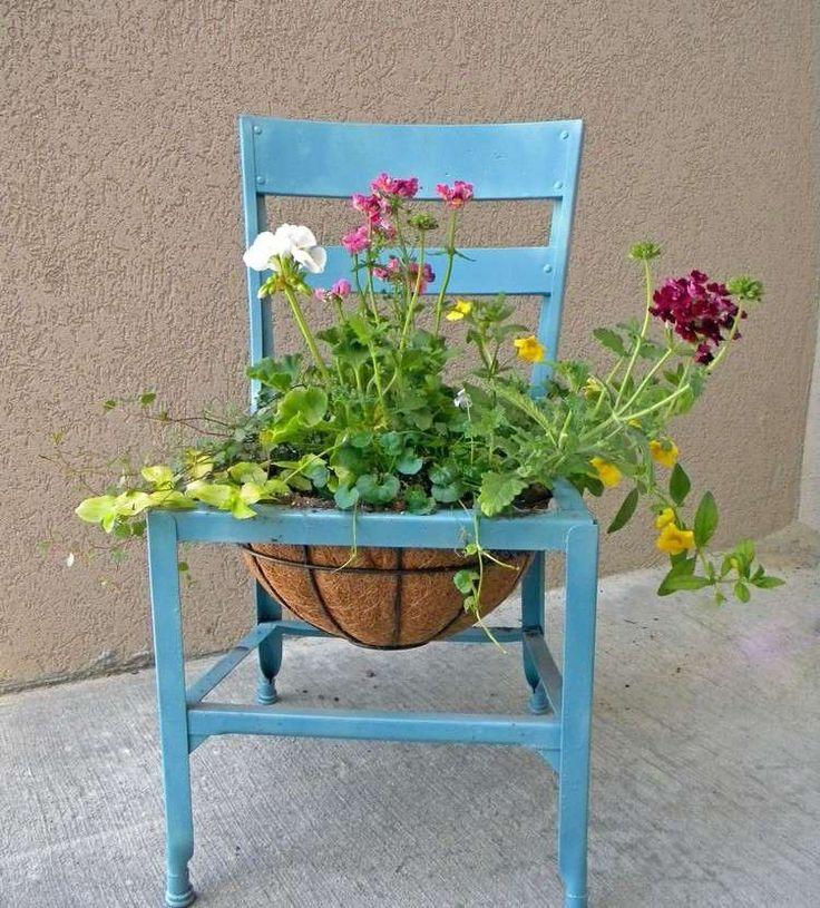 609 besten st hle bepflanzen dekorieren bilder auf pinterest dekorieren stuhl bertopf und. Black Bedroom Furniture Sets. Home Design Ideas
