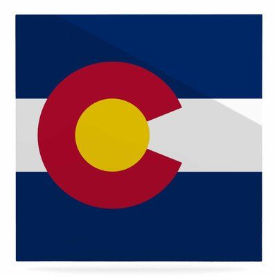 """East Urban Home 'Flag of Colorado II' Graphic Art Print on Metal Size: 10"""" H x 10"""" W x 1"""" D"""
