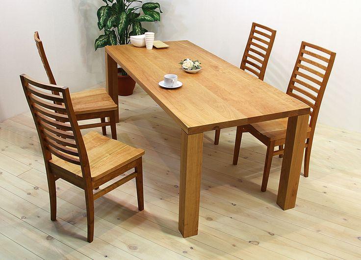 当店のダイニングテーブル「凛(幅1500/ブラックチェリー)」、チェア「凛(板座/ブラックチェリー)」です。 天然木・無垢材を活かしたシンプル、シックでモダンな高級感ある雰囲気を演出します。自然工房【kyno.jp】