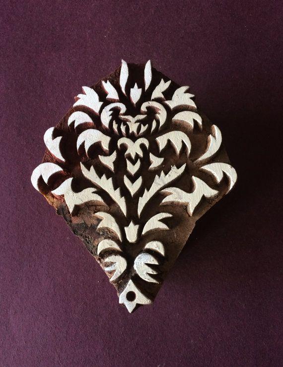 Snowflake Wooden Textile Stamps Pottery Printing Block Motif Fabric Heena Clay Scrapbook Design Blocks