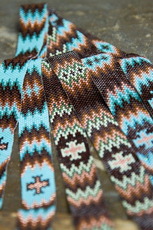 beaded+hat+band+patterns | Sage, Chocolate-Sage, TQ or Chocolate-TQ