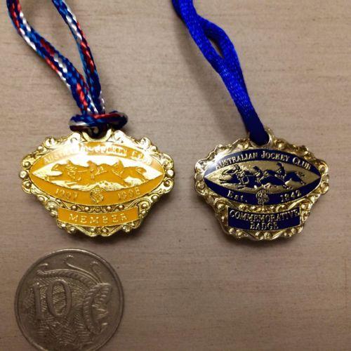 Australian-Jockey-Club-Members-1997-98-Commemorative-Badge-AJC-collector