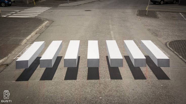 The town of Ísafjörður in northern Iceland has taken a creative step to slow down traffic by painting a pedestrian crossing with bright white lines that ap