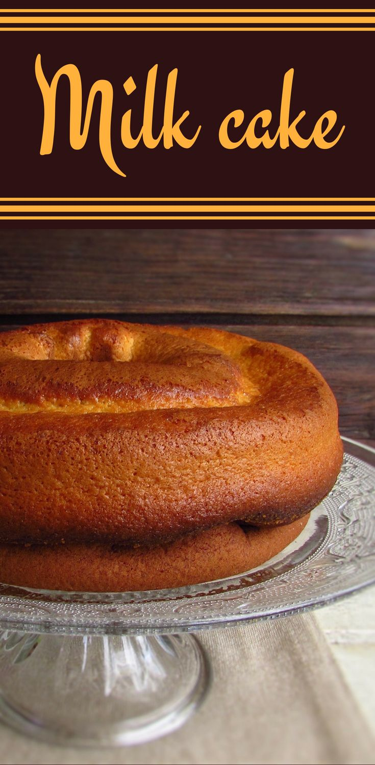 Milk cake | Food From Portugal. Going to make a snack for friends and want to prepare a simple, quick and very pleasant cake? Try this light and delicious milk cake, has excellent presentation and everyone will like! #cake #recipe #milk