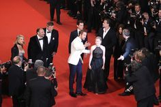"Ryan Gosling Photos - Producers Joel Silver, Shane Black, actors Ryan Gosling, Matt Bomer, Angourie Rice , Russel Crowe and Murielle Telio attend ""The Nice Guys"" premiere during the 69th annual Cannes Film Festival at the Palais des Festivals on May 15, 2016 in Cannes, France. - 'The Nice Guys' - Red Carpet Arrivals - The 69th Annual Cannes Film Festival"