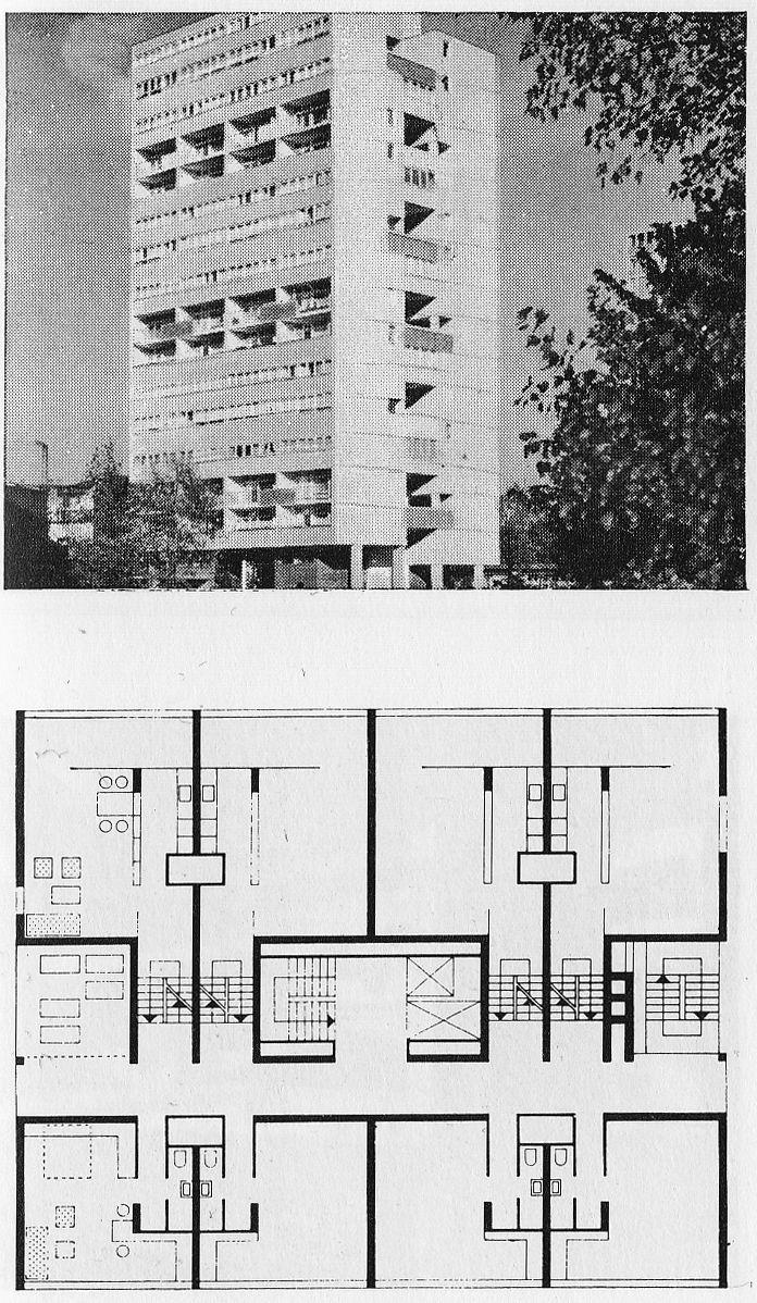 J. H. VAN DEN BROEK AND J. B. BAKEMA OBJEKT 21 AT INTERBAU HANSAVIERTEL / BERLIN, 1957