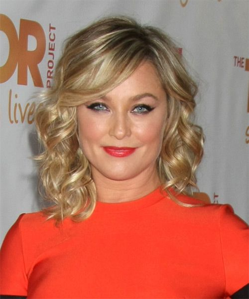 Elisabeth Rohm Medium Wavy Formal Hairstyle With Side