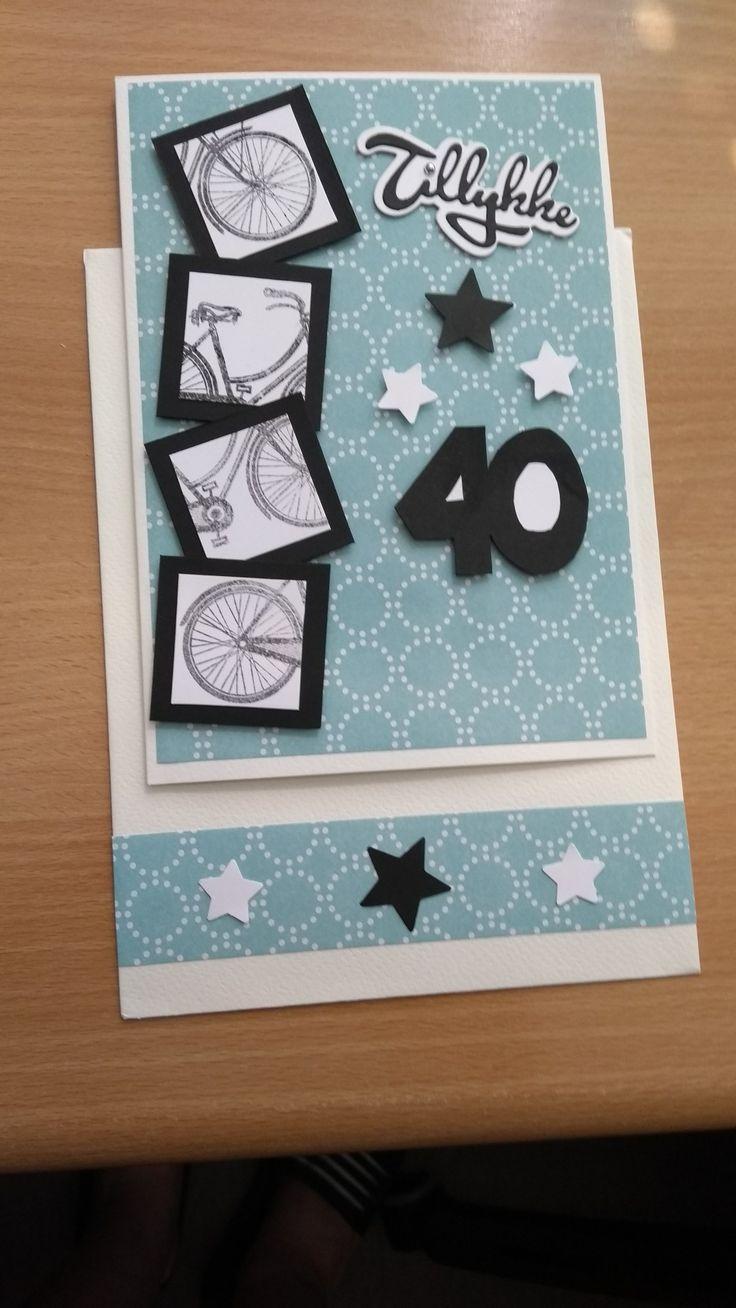 Fødselsdagskort til en herre, der elsker at cykle.