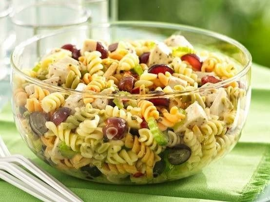 Chicken Pasta Salad With Grapes And Poppy Seed Dressing