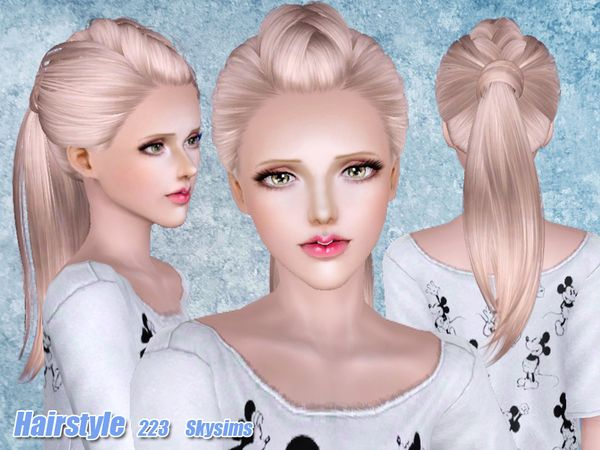 Hairstyles Braids Download: TSR Hair 223 Set By Skysims