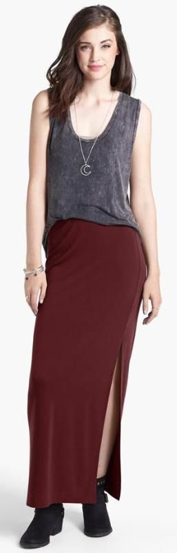 Cozy and trendy maxi skirt