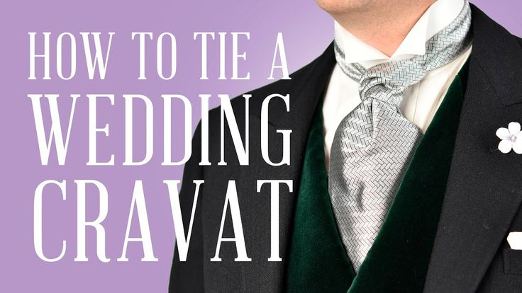 How To Tie A Formal Ascot & Wedding Cravat For Proper Traditional Mornin...