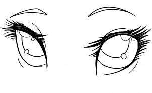 how to draw anime eyes step 15