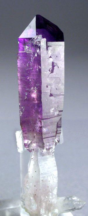 Vera Cruz Amthyst, scepter point.  #pixiecrystals - source: shelterrockminerals.