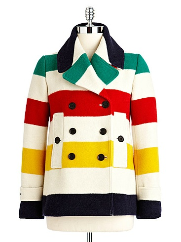 HUDSON'S BAY COMPANY COLLECTION Womens Simcoe Peacoat