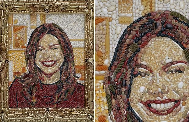 American television chef Rachel Ray is made of different varieties of pasta