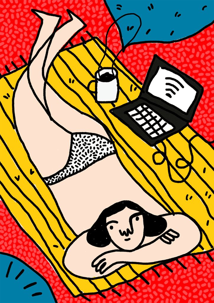 Illustrator Carmen Frontera animates her characters with frantic legs and cheeky winks.