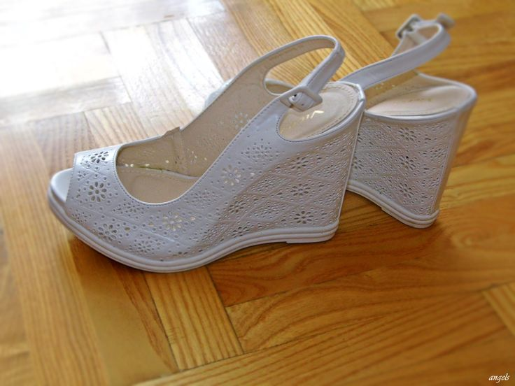 my new shoes on wedge heel <3