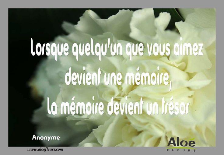 Citation Poème DeuilLorsque Quelqu'un Que Vous Aimez Devient Une Mémoire, La Mémoire Devient Un Trésor