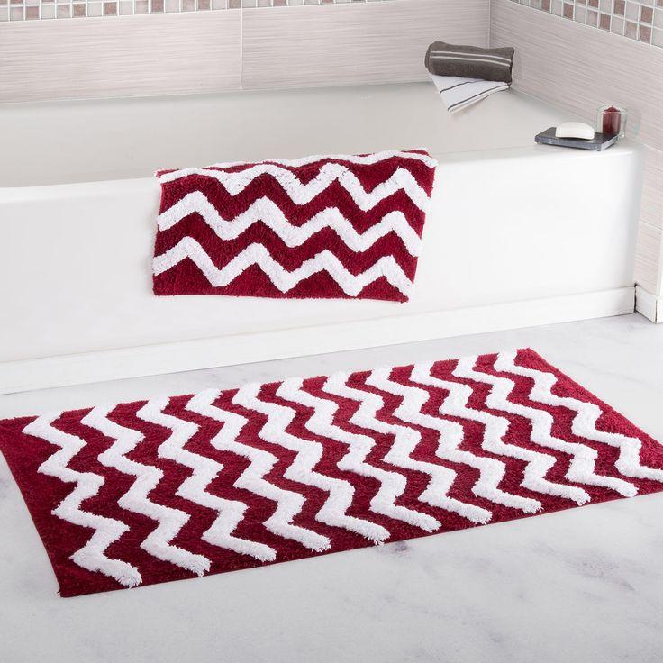 Black And White Chevron Bathroom Rug: 177 Best *Bath > Bath Rugs* Images On Pinterest