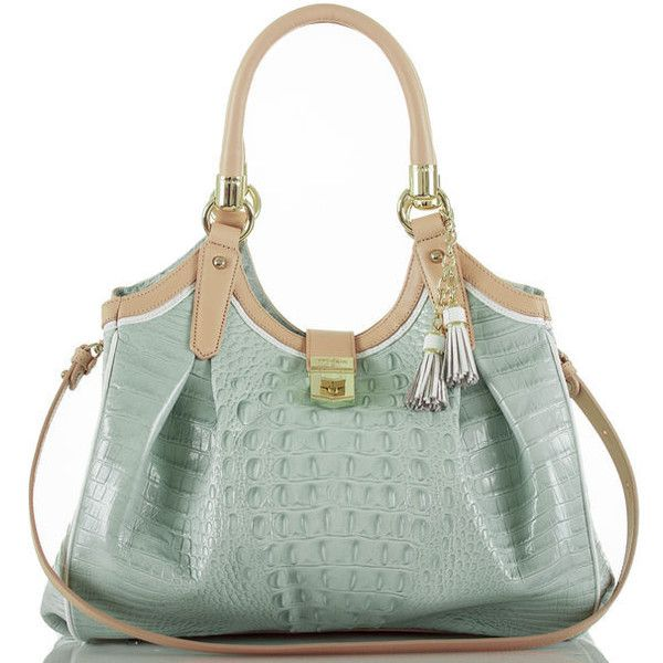 Elisa Tri-Color ❤ liked on Polyvore featuring bags, handbags, shoulder bags, green hobo purse, multi colored purses, green purse, multicolor handbags and tri color handbags
