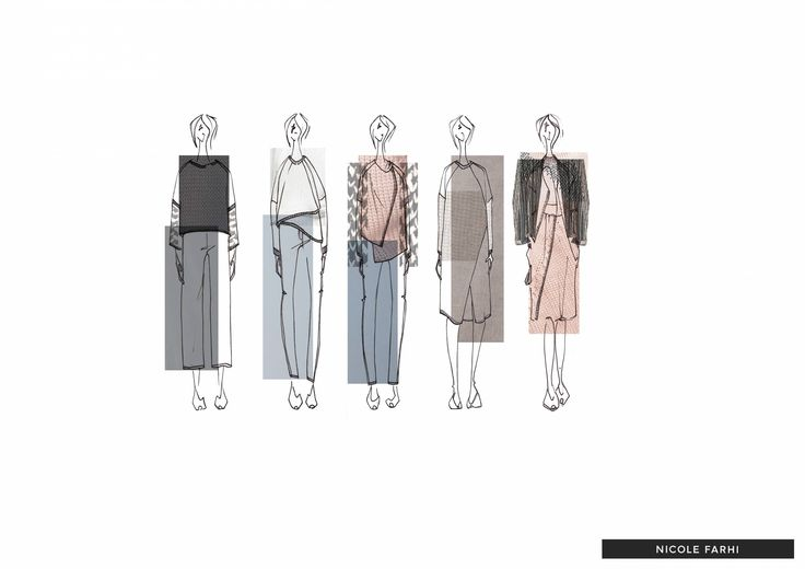 Fashion portfolio collection lineup for Nicole Farhi
