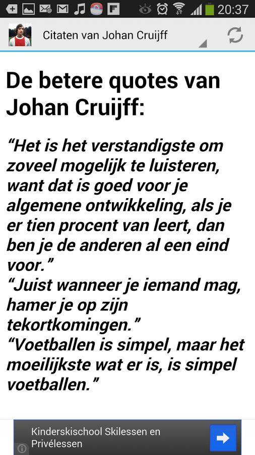Citaten Johan Cruijff.