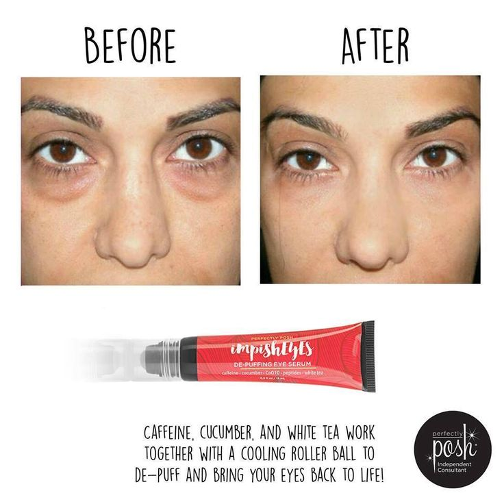 Impish Eyes - Depuffing Eye Serum by Perfectly Posh.  Great ingredients.  Made in USA.