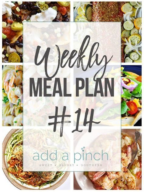 Sharing our Weekly Meal Plan with make-ahead tips, freezer instructions, and ways make supper even easier!   Saturday: Sheet Pan Nachos (30 Minutes) Sunday: Brown Sugar Salmon and Vegetables (from the Add a Pinch Cookbook) (30 Minutes) Monday: Shrimp Scampi (30 Minutes) with Zucchini Noodles (30 Minutes) Tuesday: Taco Salad Recipe (30 Minutes) Wednesday: Skillet Garlic Basil Chicken (30 Minutes)...