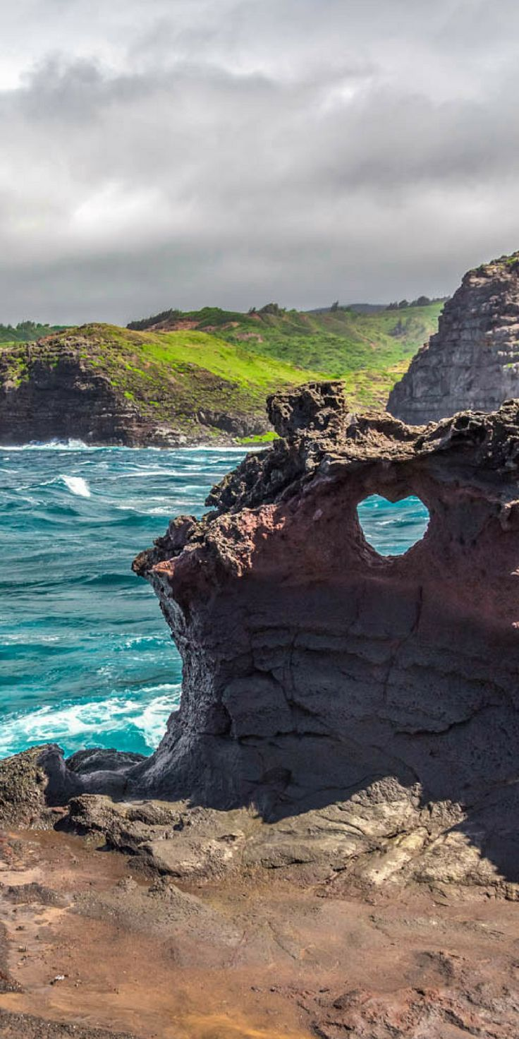 Heart-Shaped Rock in Maui! Click through to see 27 of the most incredible places in Hawaii! .